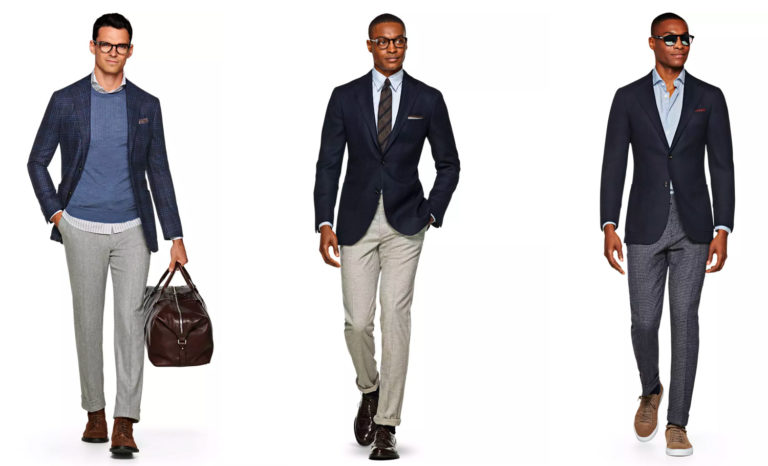 Oxford Media and Business School - men wearing different outfits for interviews